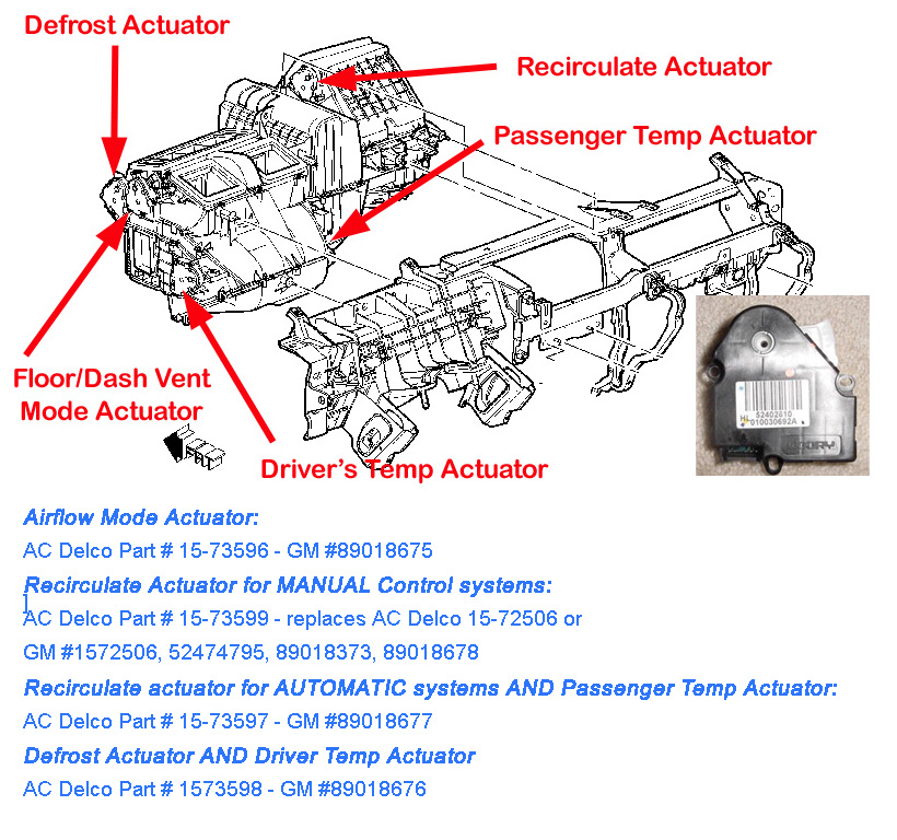 Calibrate Blend Door Actuator 2004 Chevy Silverado