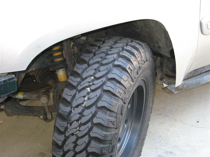 Tire size after lift  - Chevy TrailBlazer, TrailBlazer SS