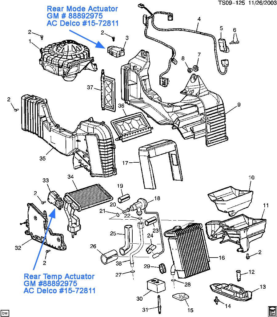 rearhvac no rear heat chevy trailblazer, trailblazer ss and gmc envoy forum 2004 Trailblazer Wiring Schematic at bayanpartner.co